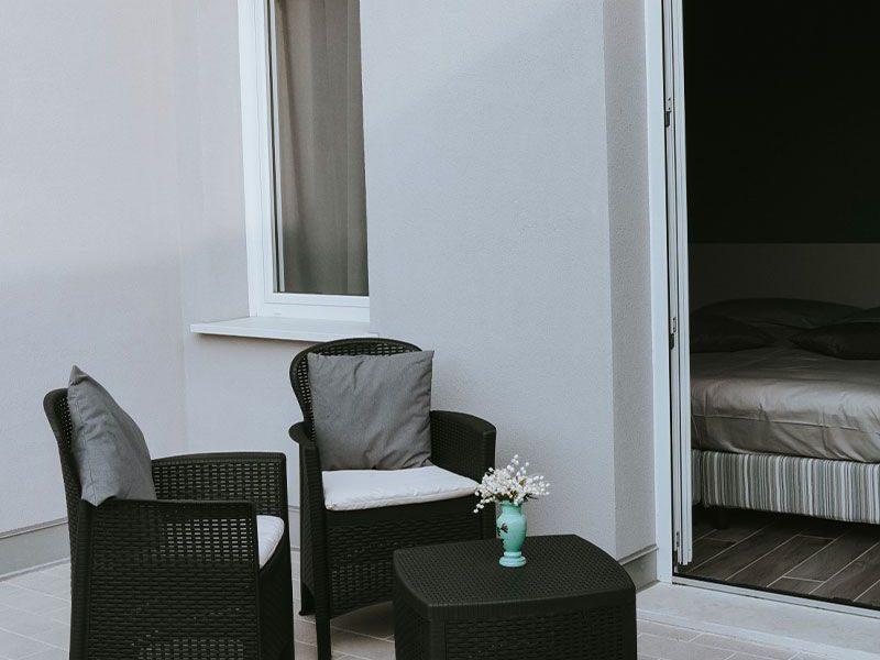 Camere con terrazzo interno